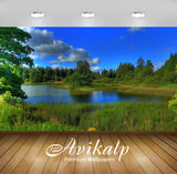 Avikalp Exclusive Awi6377 Summer At The Forest River Nature Full HD Wallpapers for Living room, Hall
