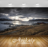 Avikalp Exclusive Awi6398 Sun Light Piercing Through Dark Clouds And Reaching To The Water Nature Fu