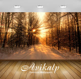 Avikalp Exclusive Awi6424 Sun Warming The Snowy Forest Nature Full HD Wallpapers for Living room, Ha