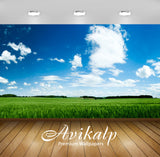 Avikalp Exclusive Awi6439 Sunlit Field Nature Full HD Wallpapers for Living room, Hall, Kids Room, K