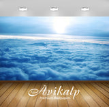 Avikalp Exclusive Awi6475 Sunrise Over The Clouds Nature Full HD Wallpapers for Living room, Hall, K