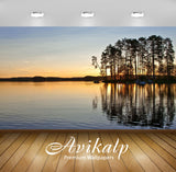 Avikalp Exclusive Awi6494 Sunset Hiding Behind The Tall Trees On The Lake Side Nature Full HD Wallpa