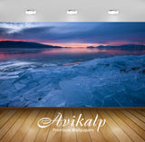 Avikalp Exclusive Awi6512 Sunset Over Frozen Lake Nature Full HD Wallpapers for Living room, Hall, K