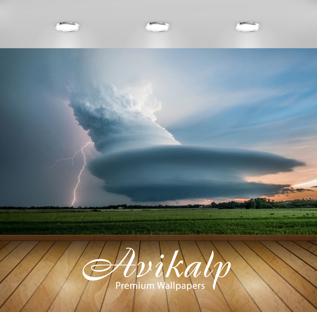 Avikalp Exclusive Awi6537 Supercell Forming Nature Full HD Wallpapers for Living room, Hall, Kids Ro