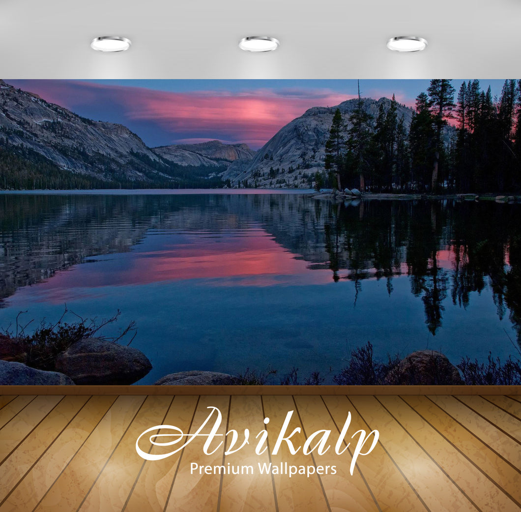 Avikalp Exclusive Awi6549 Tenaya Lake Nature Full HD Wallpapers for Living room, Hall, Kids Room, Ki
