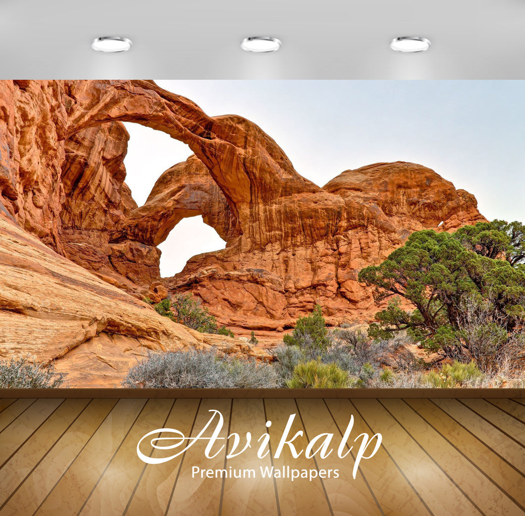 Avikalp Exclusive Awi6551 The Double Arch Nature Full HD Wallpapers for Living room, Hall, Kids Room