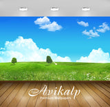 Avikalp Exclusive Awi6615 Trees In The Meadow Nature Full HD Wallpapers for Living room, Hall, Kids