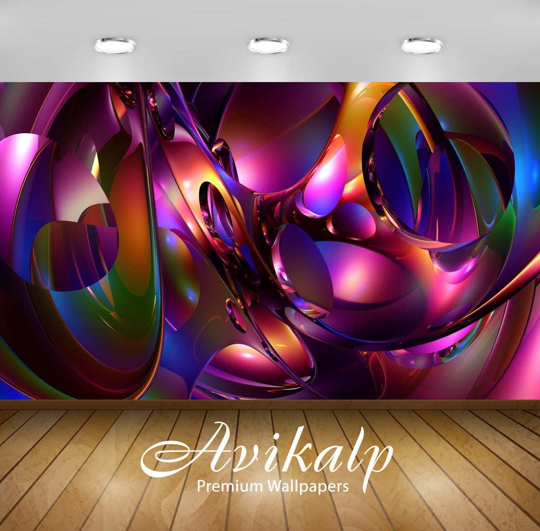 Avikalp Exclusive AWI662 Abstract HD Wallpapers for Living room, Hall, Kids Room, Kitchen, TV Backgr