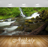 Avikalp Exclusive Awi6645 Water Falling In The Rocky River Nature Full HD Wallpapers for Living room