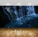Avikalp Exclusive Awi6646 Water Falling On The Rocks Nature Full HD Wallpapers for Living room, Hall