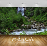 Avikalp Exclusive Awi6663 Waterfall On A Rocky River In The Green Forest Nature Full HD Wallpapers f