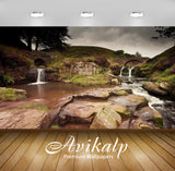 Avikalp Exclusive Awi6666 Waterfall On Rocky River Nature Full HD Wallpapers for Living room, Hall,