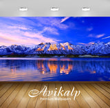 Avikalp Exclusive Awi6715 Winter Landscape Nature Full HD Wallpapers for Living room, Hall, Kids Roo