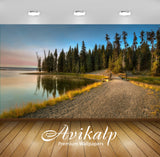 Avikalp Exclusive Awi6732 Wooden Bridge To The Forest Nature Full HD Wallpapers for Living room, Hal