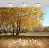 Avikalp Exclusive Awi6746 Yellow Forest Nature Full HD Wallpapers for Living room, Hall, Kids Room,