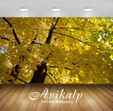 Avikalp Exclusive Awi6752 Yellow Linden Branches Nature Full HD Wallpapers for Living room, Hall, Ki