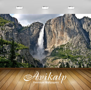Avikalp Exclusive Awi6761 Yosemite Falls Nature Full HD Wallpapers for Living room, Hall, Kids Room,