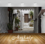 Avikalp Exclusive Premium courtyard HD Wallpapers for Living room, Hall, Kids Room, Kitchen, TV Back
