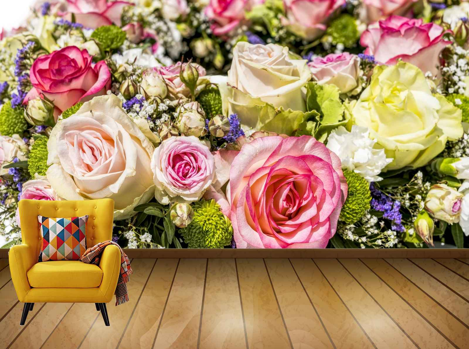 Avikalp Exclusive Awi7528 Flowers Bouquet Roses Wedding Blossom Bloom HD Wallpaper
