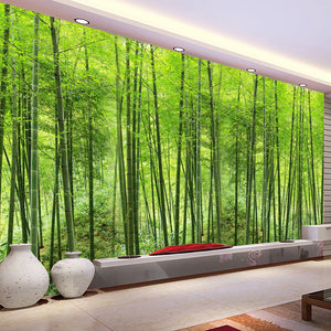 Avikalp Custom Photo Wallpaper Bamboo Forest Art Wall Painting Living Room TV Background Mural Home
