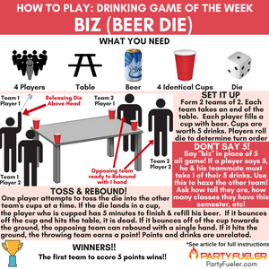 Biz (AKA Beer Die) Drinking Game