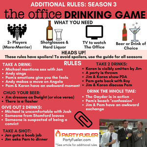The Office Drinking Game: Season 3 Extra Rules