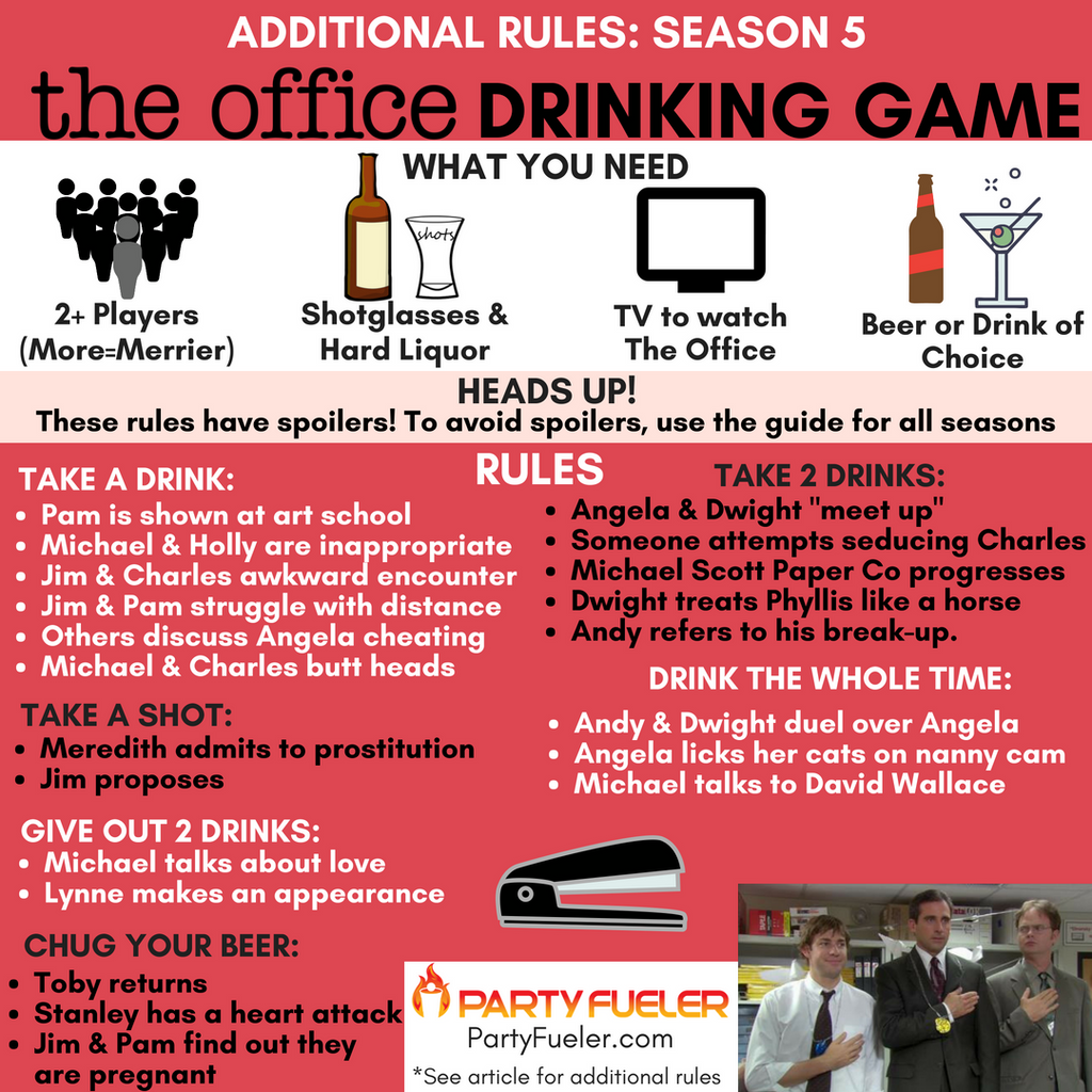 The Office Drinking Game: Season 5 Extra Rules