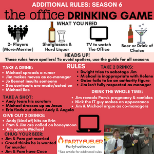 The Office Drinking Game: Season 6 Extra Rules