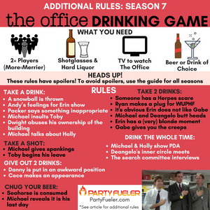 The Office Drinking Game: Season 7 Extra Rules