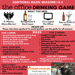 The Office Drinking Game: Seasons 1 & 2 Extra Rules