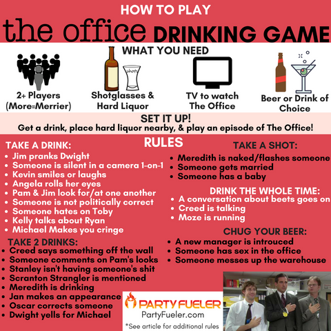 The Office Drinking Game Rules