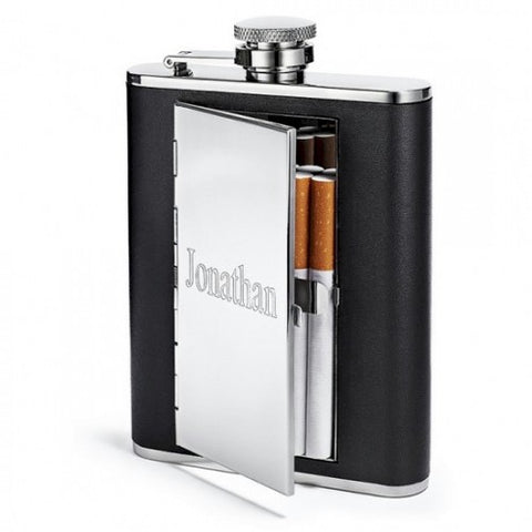 Engraved Cigarette Flask
