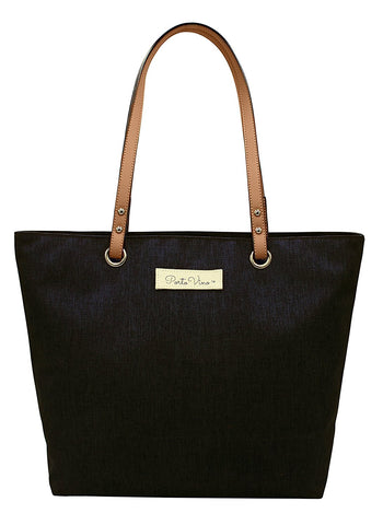 PortoVino Wine Purse- City Tote, Black