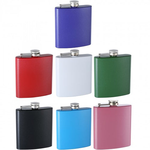 Personalized Glitter Flasks, Assorted Colors (6 oz)