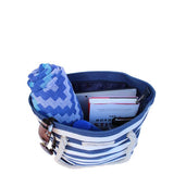 PortoVino Wine Purse Canvas Blue
