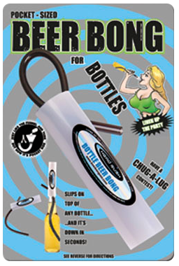 Bottle Beer Bong Card