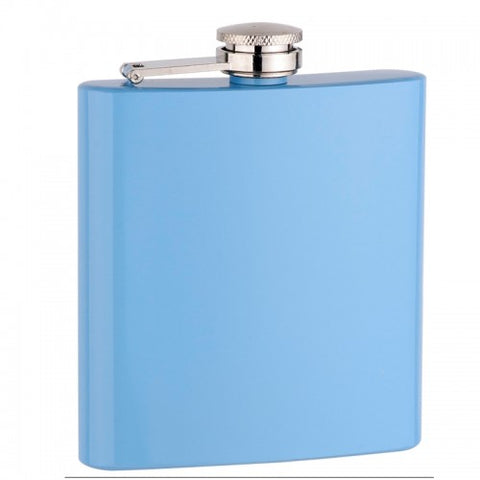Baby Blue Personalized Flask (6 oz)