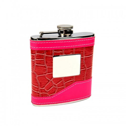 2-Tone Pretty in Pink Personalized Flask (6 oz)