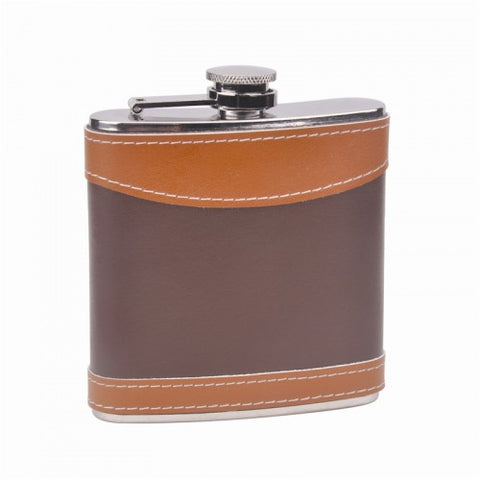 Two-Tone Leather Flask