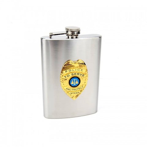 Personalized Police Officer Flask (8 oz)