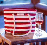 PortoVino Canvas Wine Purse with Wine (Red)
