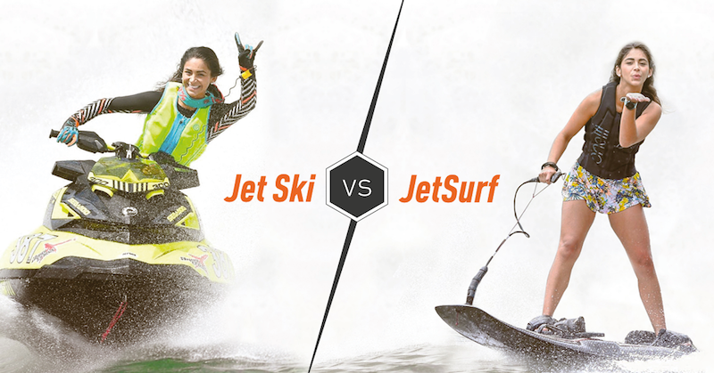Jet Ski vs JetSurf comparison with Andrea Dominguez