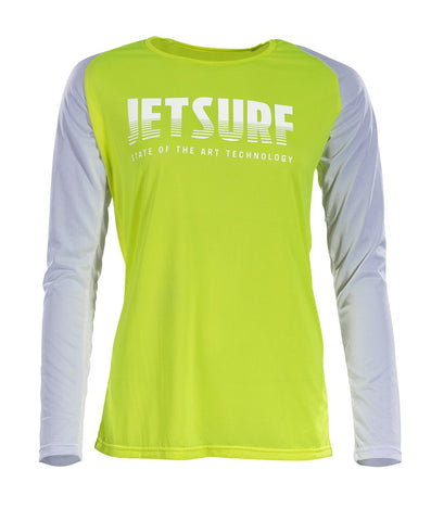 T-shirt DRYFIT LONG SLEEVE SHIRT FLUO YELLOW/WHITE W