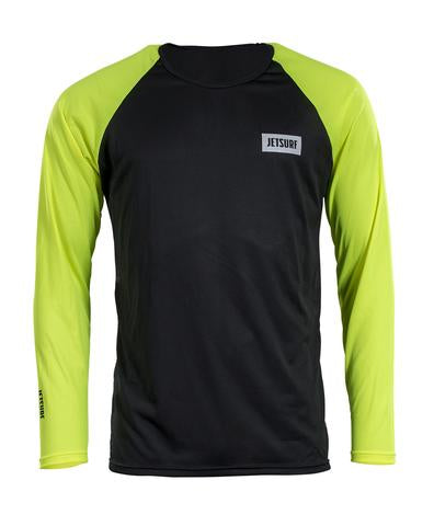 Jetsurf Dryfit Long Sleeve Black & Fluo Yellow