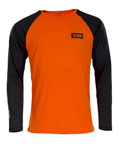 Jetsurf Dryfit Long Sleeve Black & Orange