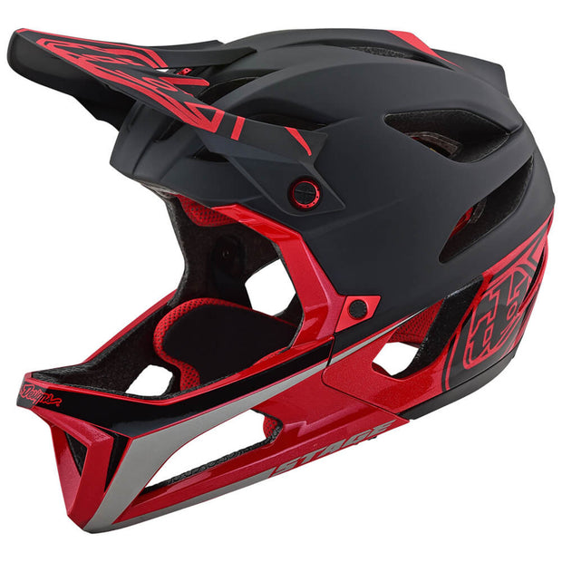 STAGE MIPS HELMET Race Black/Red