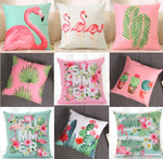 Florida Design Cushion Covers Flamingo/Palms/Leafs in Many Different Colors