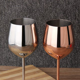 Silver or Rose Gold Wine Glasses