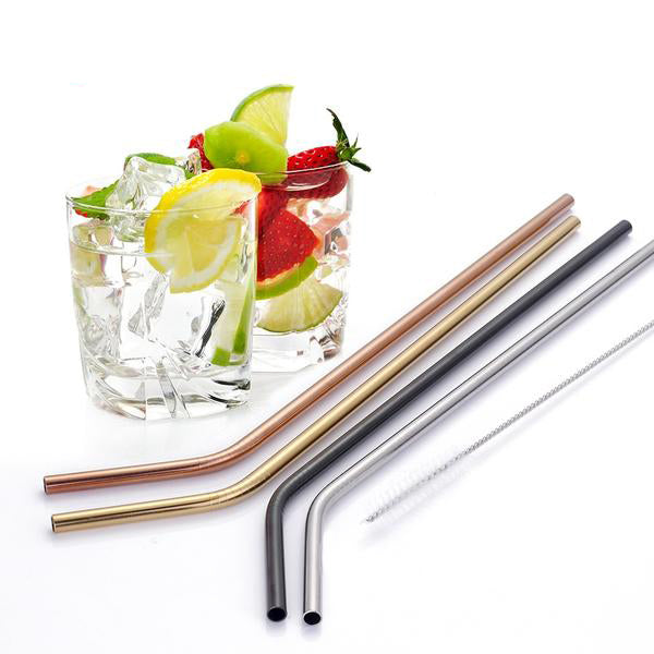 4Pcs Reusable Eco Friendly Drinking Straws