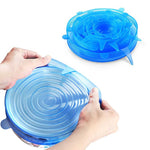 6 Pcs Reusable Stretch Lids Heat Bowl Covers